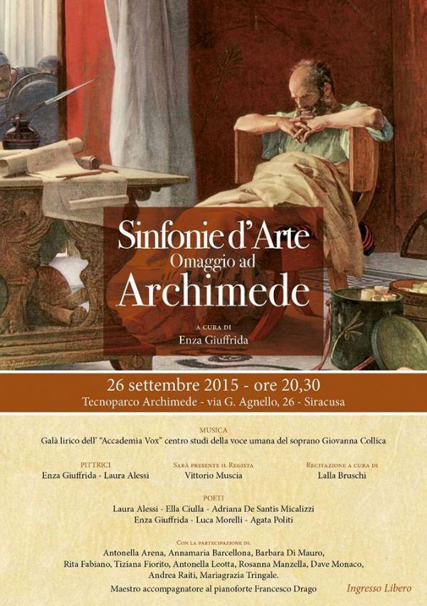 Eventi a siracusa sinfonie d 39 arte omaggio ad archimede for Antonella alessi